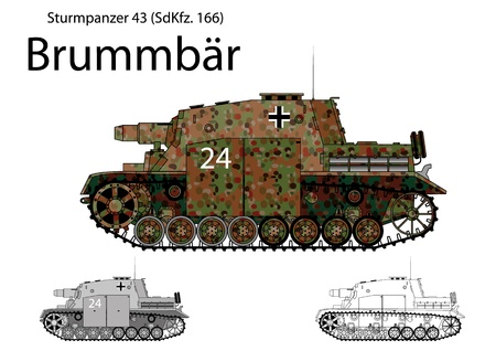 howitzer: WW2 German Brummbar self propelled heavy assault gun