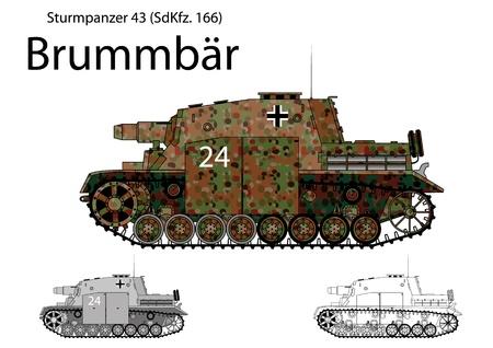 howitzer: WW2 German Brummbar self propelled heavy assault gun