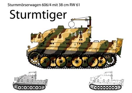 artillery: WW2 German Sturmtiger self propelled heavy assault gun