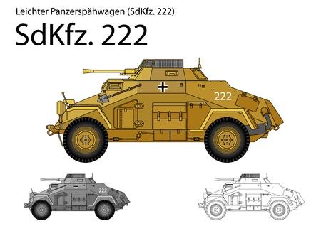 WW2 German SdKfz. 222 armored car