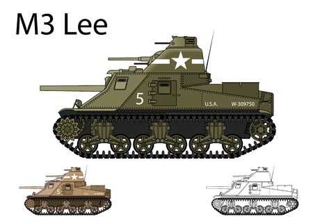 u s: American WW2 M3 Lee medium tank