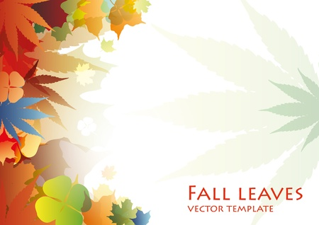 Fall Leaves vector template