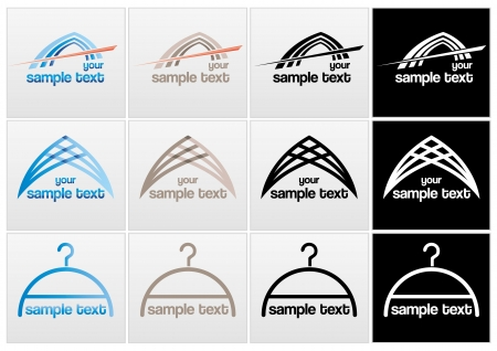 Different vector marks with text Illustration