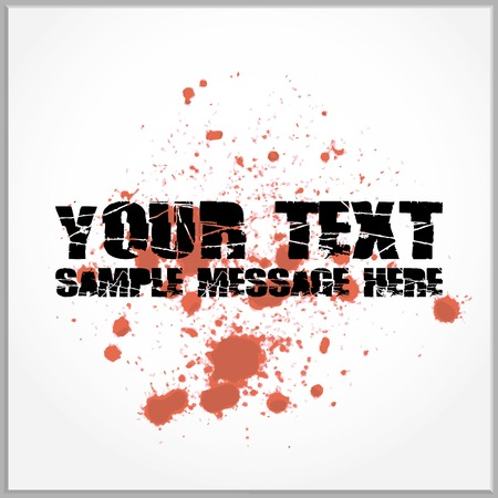 Distorted text with blood spatter Vector