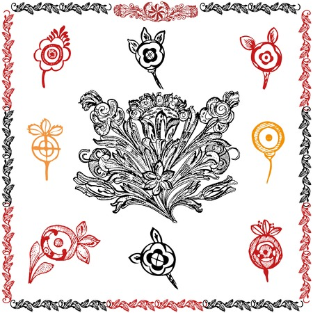 Traditional motif collection Vector