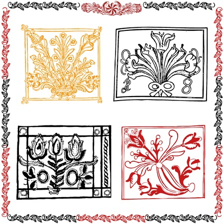 Traditional motif collection Stock Vector - 22452232