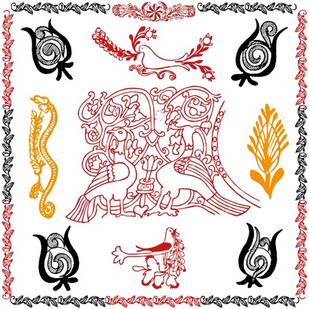 Traditional motif collection Stock Vector - 22452233