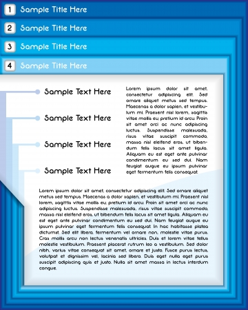 Business presentation or website template in blue