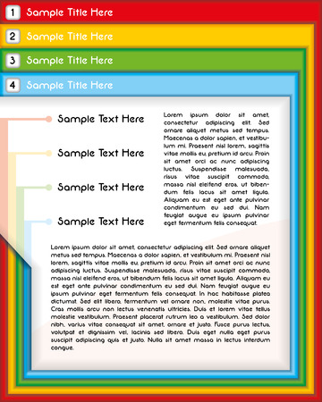 Business presentation or website template in different colors