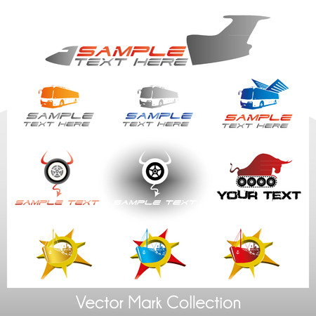 Vector symbol collection related to land, air and sea transportation Stock Vector - 22487436