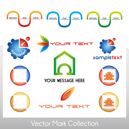 Vector mark collection with different shapes Stock Vector - 22487434