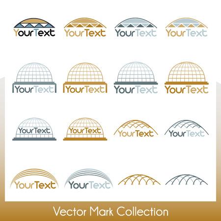 kippah: Colecci�n marca Vector relacionado con la construcci�n, c�pulas y kip� jud�a
