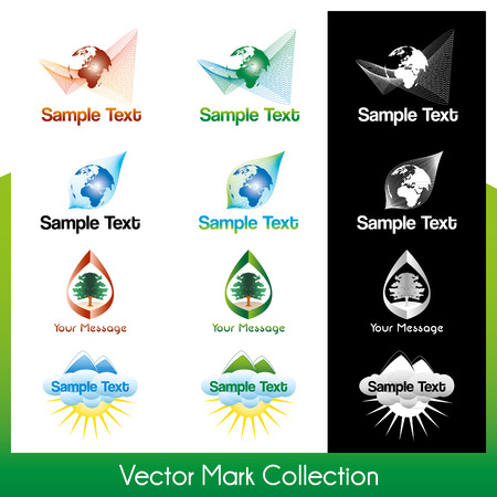 Vector symbol collection related to Earth and nature Stock Vector - 22487463