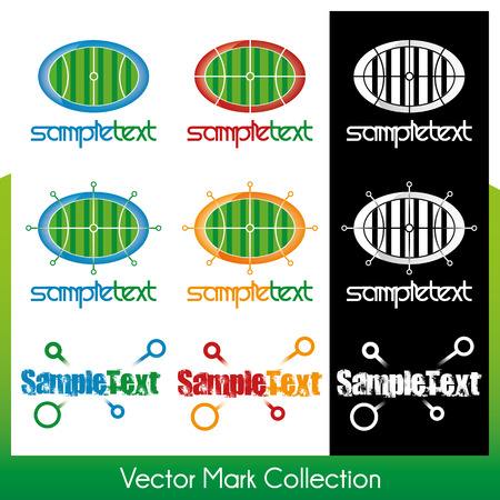 cross linked: Vector symbol collection related to sports and activity