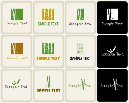 ベクトルは自然と竹に関連する ans シンボルをマークします。