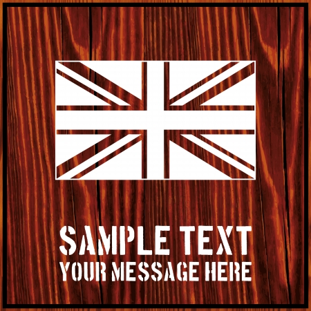 tommy: United Kingdom flag isolated on wooden background