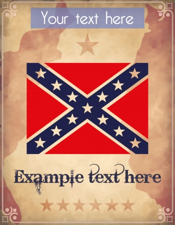 Poster with confederate flag Vector