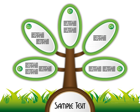 Business presentation template with a tree