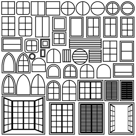 Simple windows of different shape Vector