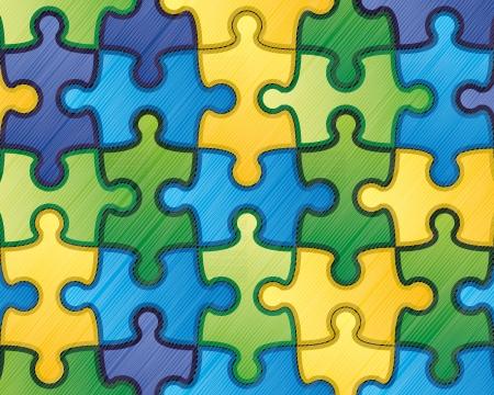team communication: Colorful puzzle background 1 Illustration