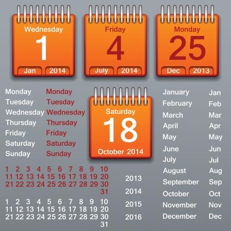 red ribbon week: Editable calendar 2013-2016