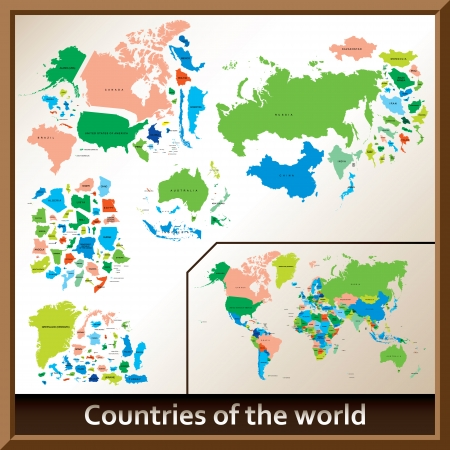 asia pacific: Countries of the world Illustration