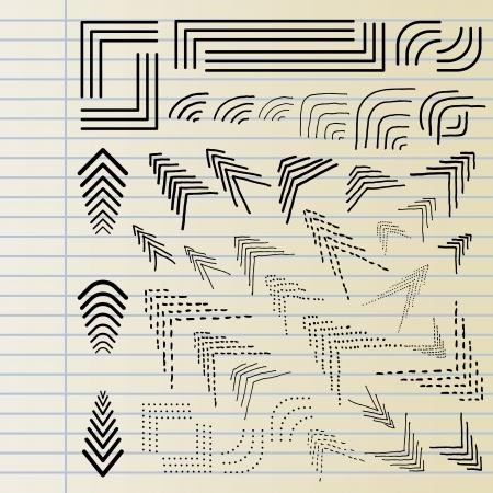 angled: Hand drawn corner elements
