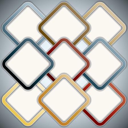 Colorful rectangular presentation template