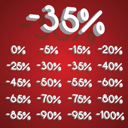 Discount percent collection Vector