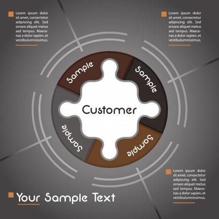focus group: Business presentation template Illustration