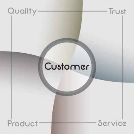 integrated groups: Business presentation template Illustration