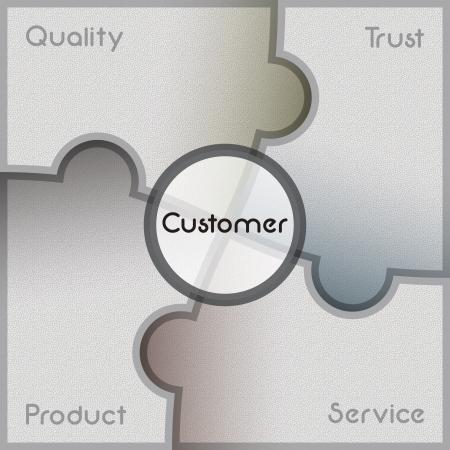Business presentation template Illustration
