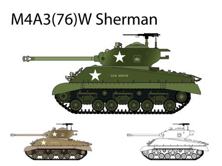American WW2 AFV Sherman