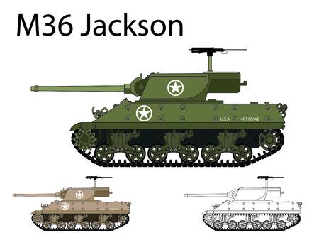 American WW2 AFV M36 Jackson