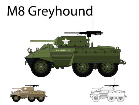 commonwealth: American WW2 AFV M8 Greyhound