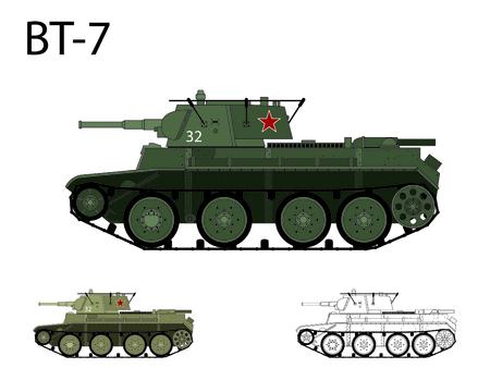 Russie WW2 BT-7 réservoir