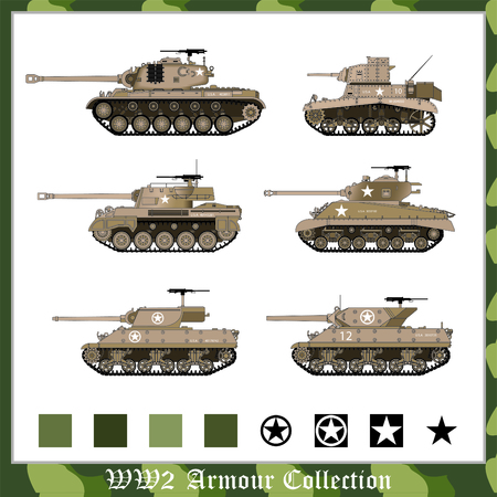 pershing: Brown WW2 american armour collection