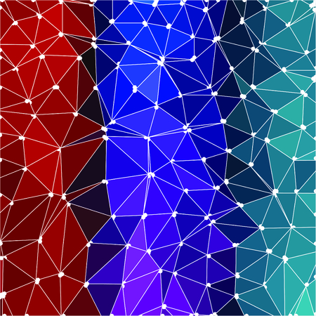 Colorful polygonal vector background Illustration