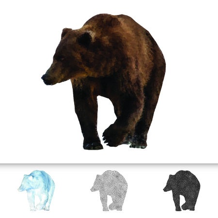 Bear created with polygonal shapes