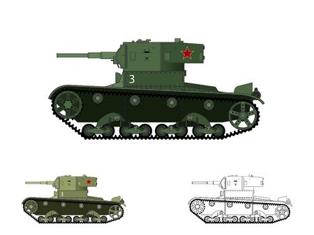 vickers: WW2 russian T-26 tank