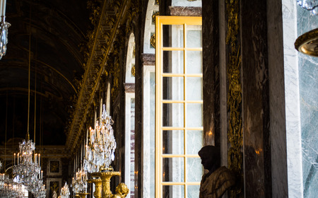 murals: Rows of Windows and Murals in the Versailles Palace Editorial