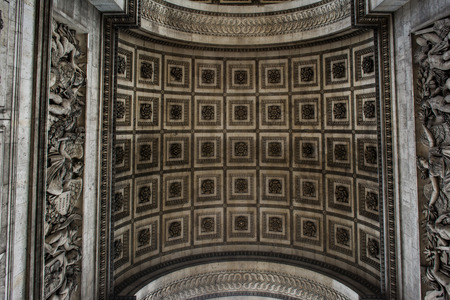 triumphe: Underside Texture and Pattern of the Arc de Triomphe