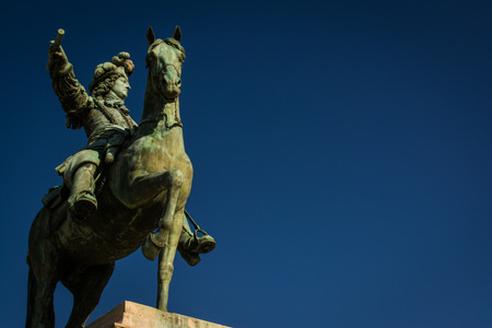 louis the rich heritage: Horse Statue in front of Versailles in Paris, France Editorial