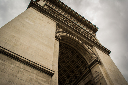 champs elysees quarter: Looking Up at the Epic Arc de Triopmhe