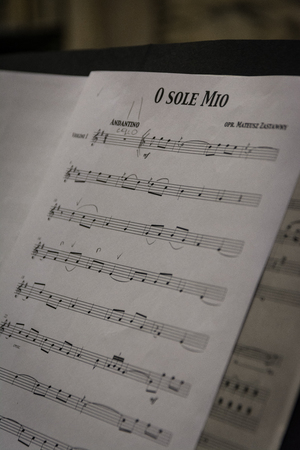Music Notes Sheet O Sole Mio Italian Opera Concert