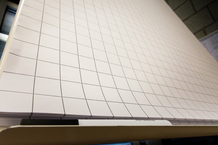 grid paper: Grid Paper Flipchart Large Sheets Brainstorming Empty Blank Black White Marker Corner Perspective Board Stock Photo