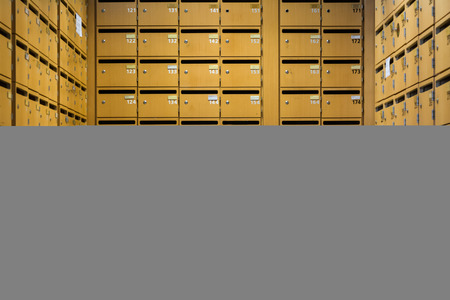 Grid Sorted Array Columns Rows Mailboxes Wooden Security Storage Mailroom Locks Nametags Numbers