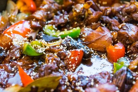 carnes y verduras: Asian Cooking Cuisine Vegetables Meats Closeup Eating Delicious Homemade