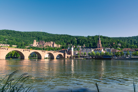 Heidelberg Hills Green Landscape Heiliggeistkirche German Destination Travel Summer Blue Sky Day