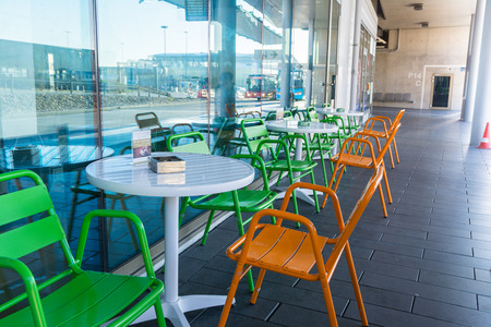 Cafe Restaurant Chairs Table Empty Waiting Gastronomy Customers Editorial